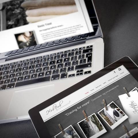 Cashmere og smykker – Hobnob Copenhagen får ny identitet og webdesign