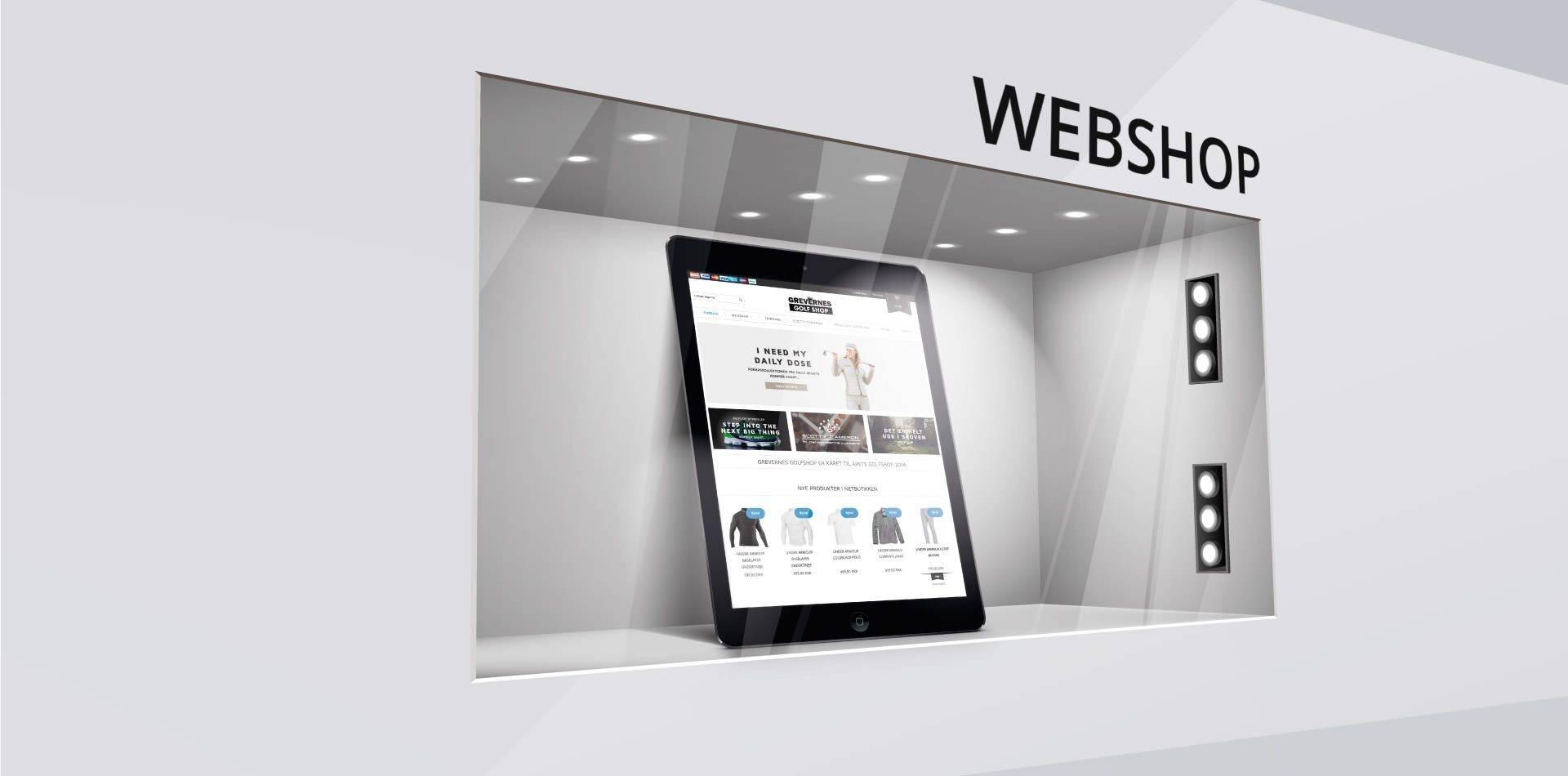 Hjemmeside med webshop