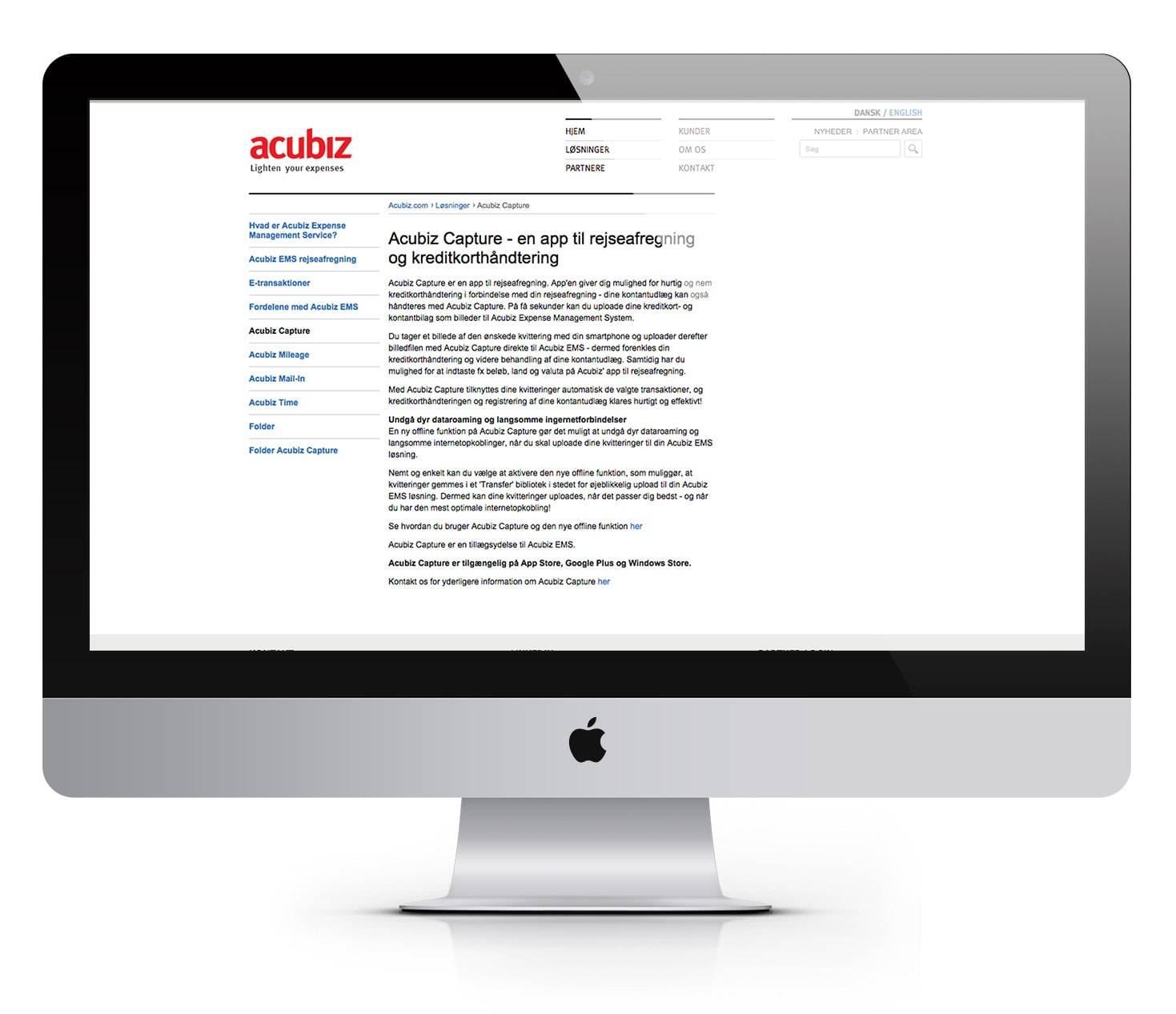 acubiz oprindelig hjemmeside
