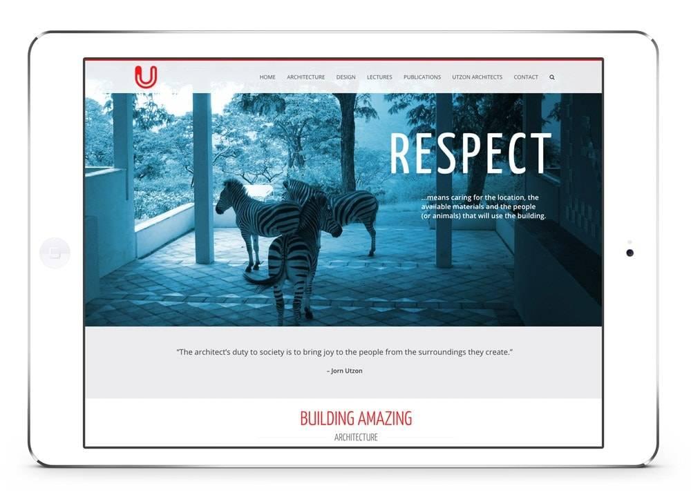 Webside design Utzon
