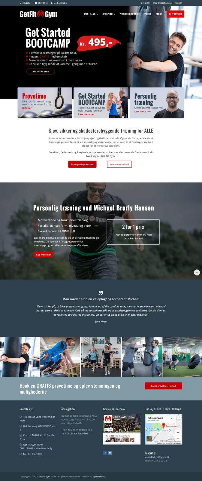 GetFitGym webside design